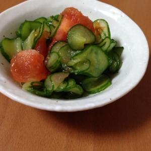 トマトときゅうりの甘酢和え
