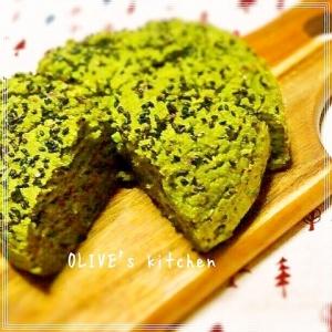 おからの抹茶小豆ケーキ