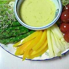 クリームソースで食べる、生・温野菜