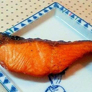鮭の昆布塩焼き♪