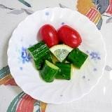 胡瓜とミニトマトのミニサラダ