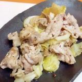 キャベツと豚肉の粒マスタードの和風ドレッシング焼き
