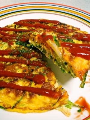 壬生菜とツナの簡単オムレツ☆激ウマ