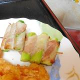 お弁当用‼楊枝で刺す、アスパラ巻き