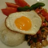 本格タイ屋台料理 ガパオご飯(鶏肉のバジル炒め)