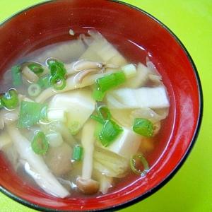 白菜、豆腐、しめじのすまし汁
