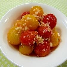 ミニトマトのニンニクソテー