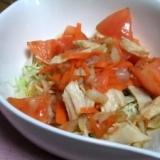 クラゲとチキンの中華サラダ