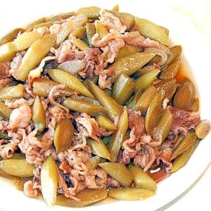 うどを食べやすく炒め煮に!うどと山菜の甘辛炒め♪