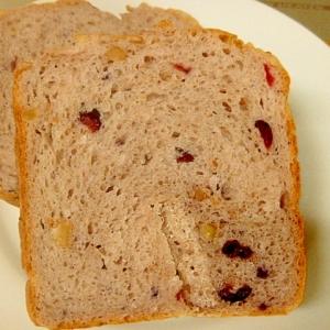 ベリーベリー食パン。アロニア果汁入り、パナHBで
