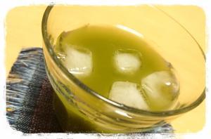 粉末抹茶使用☆レモン風味のアイスグリーンティ