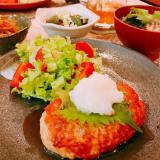 ヘルシー♡鶏ひき肉の豆腐ハンバーグ