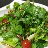 茗荷とルッコラのサラダ