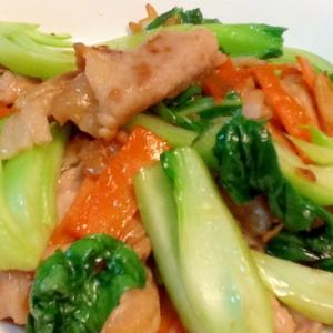 ☆チンゲン菜と豚肉の簡単炒め