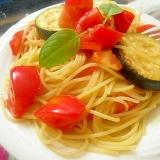 ズッキーニとトマトのオイルパスタ サッパリおいしい