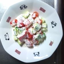 きゅうりとトマトのフレンチサラダ