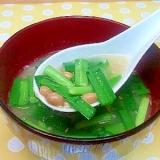 納豆&にらの味噌汁