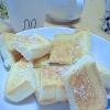冷凍パンでシュガートースト(バターが簡単に塗れる)