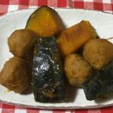 南瓜と鶏団子の煮物