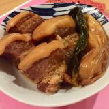 ズボラな角煮☆豚バラとねぎのコトコト煮