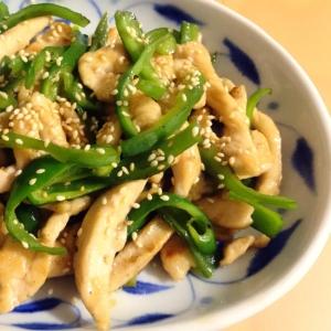 【夫婦のおつまみ】鶏むね肉とピーマンの中華風炒め