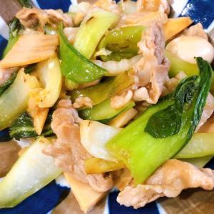 豚肉と青梗菜のオイスターソース炒め
