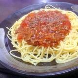 洋食屋のミートソーススパゲッティ