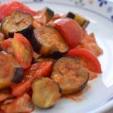 *完熟トマトと茄子のケチャップ炒め*