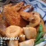 里芋と鶏の手羽先の甘煮