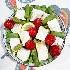 リーフレタスと塩とうふのサラダ~♪