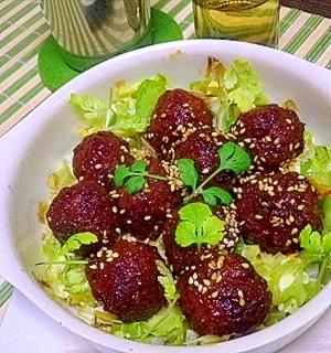 独り暮らしさんに捧ぐ お惣菜肉団子の簡単栄養焼き