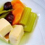 こうや豆腐と野菜の煮つけ