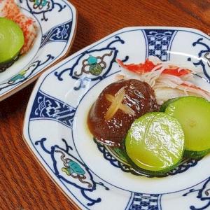 レンジで簡単☆ 「椎茸とズッキーニ酒蒸し」