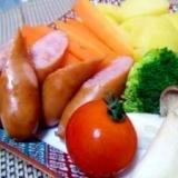 お野菜たっぷり!チーズフォンデュ