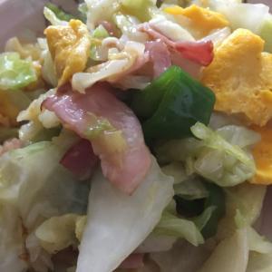 キャベツと卵の炒め物