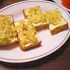 厚揚げの葱味噌マヨ トースター焼き