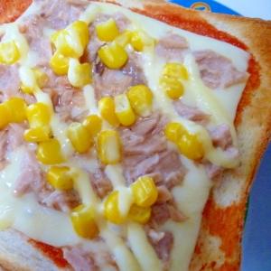 ツナ*コーンのチーズトースト♡