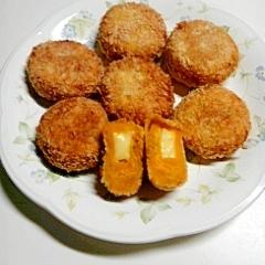 かぼちゃのチーズ入りコロッケ