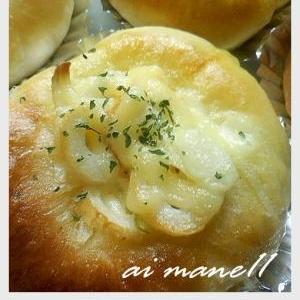 竹輪と玉ねぎの調理パン♪