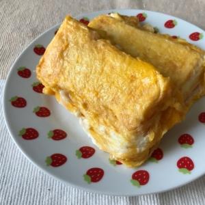 朝食には甘くないフレンチトーストを!
