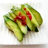 中華風甘酸っぱいきゅうりの漬物 酸辣黄瓜