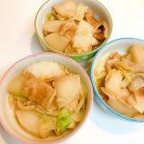 寒い日の晩ごはんに☆白菜と大根と麩のほっこり煮物