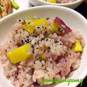 さつまいもの雑穀米ごはんです☆美味しく食べやすく♪