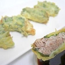 豚こまの青じそ巻き天ぷら★節約メニューに見えない!