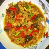 魚香肉絲(ユィーシャンロース)肉と野菜の四川風炒め