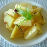 お夜食に!リンゴとさつま芋のマヨ塩糀サラダ♪