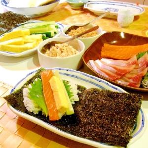 普通の手巻き寿司