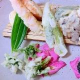 春のいぶきをどうぞ。ふきのとうと天ぷら盛り合わせ
