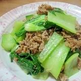 チンゲン菜と牛肉の和風炒め