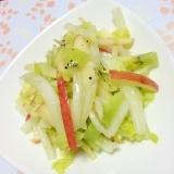 キウイとりんごと白菜のコールスロー